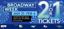New York teatri scontati Broadway Week