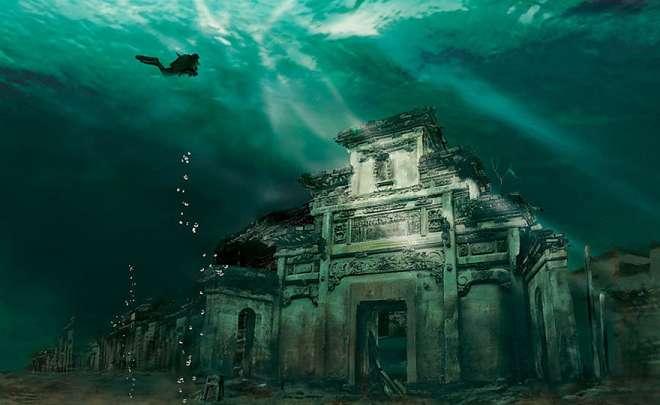 Citta sommersa Shicheng Cina