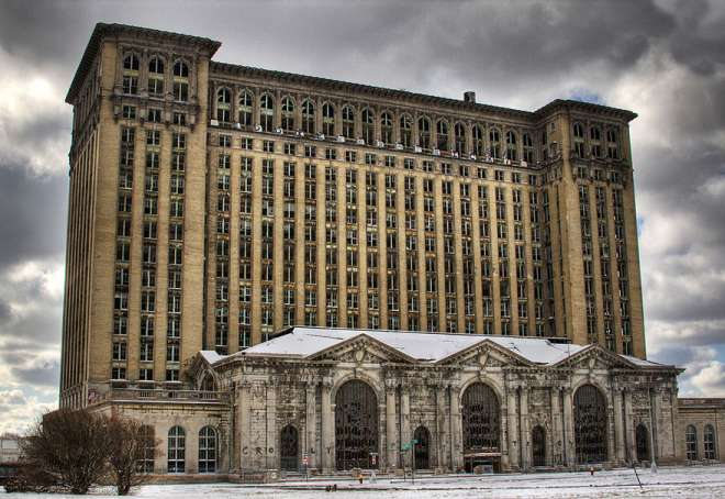 Michigan Central Station Detroit USA