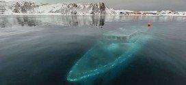 Sunken Yacht Antartica